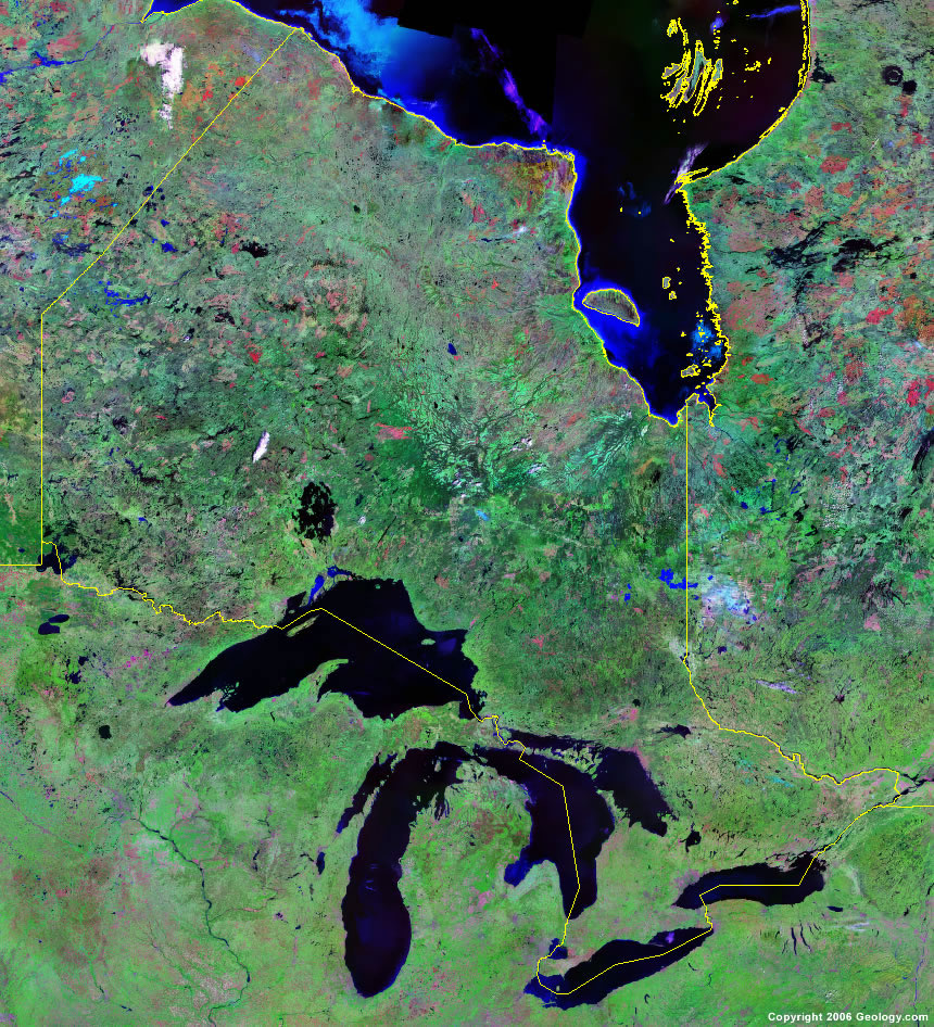 Ontario Map   Satellite Image   Roads  Lakes  Rivers  Cities Ontario satellite photo