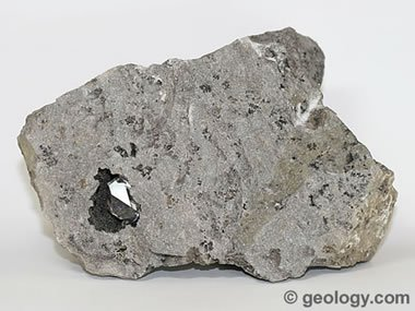 Herkimer diamond in source rock
