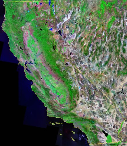 California Satellite Images   Landsat Color Image California satellite photo