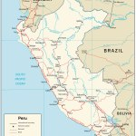 Peru Map And Satellite Image
