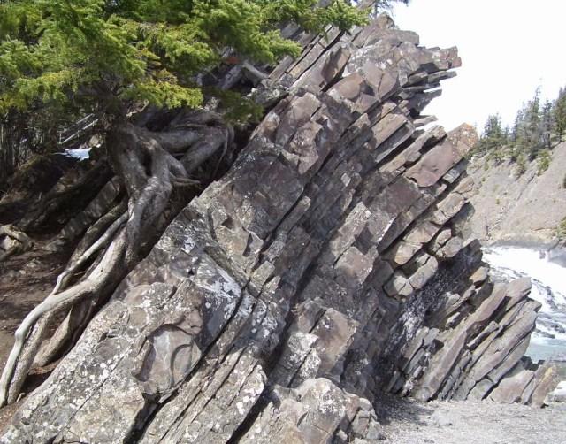 rock-outcrup-at-banff-canada