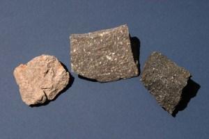 Volcanic rock samples.