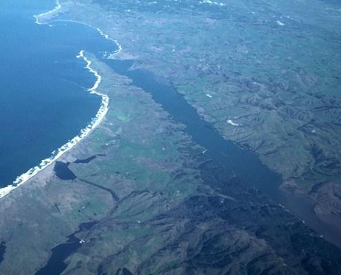 San Andreas fault and Tomales Bay