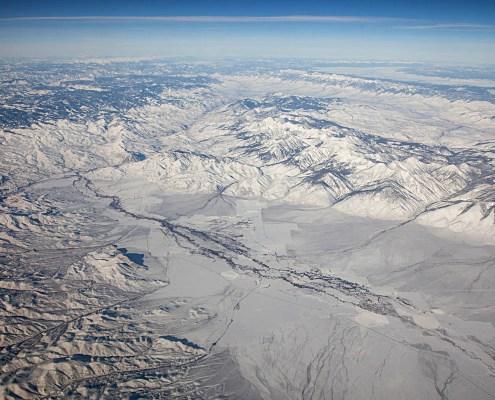 Recent faulting along western edge of Lemhi Range, Idaho.
