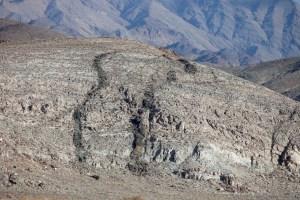 Mafic Dikes cutting through limestone.