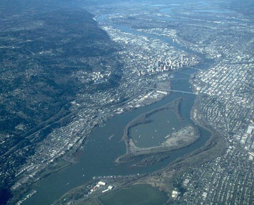 Willamette River, Portland Hills fault, and Portland, OR