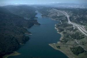 B. Fault underlies Crystal Reservoir nr. S. Francisco