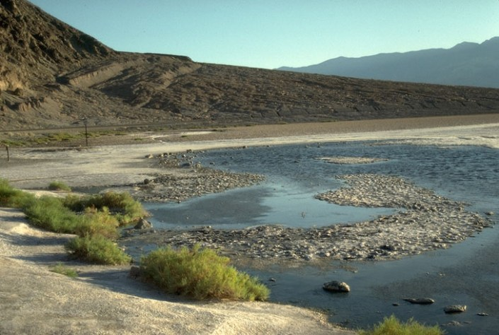 Badwater Spring and fault scarp