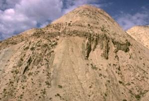 Angular unconformity, Tien Shan Mtns., Kyrgyzstan.