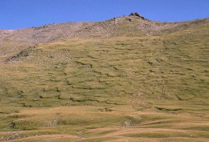 Tien Shan Mountain Range in Kyrgyzstan.