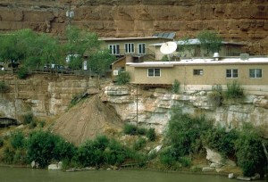 Slope retreat along the San Juan River.