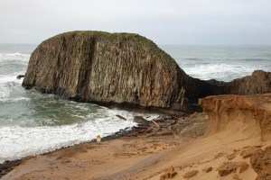 The southernmost coastal exposure of Columbia River Basalt Group in Seal Rock, Oregon.