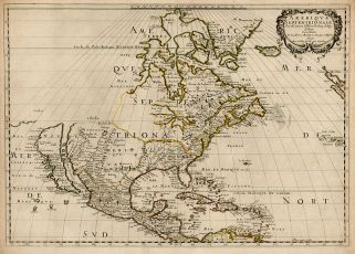 The Island of California is shown on a 1650 map by Nicolas Sanson. Image from wikipedia.org