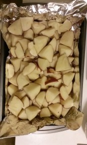 Wedge cut red potatoes. Photo by Laylita Day