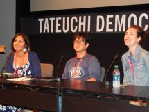 Saturday panels. Tanzila Ahmed, Andrew Ti and Ann Friedman. Photo by Laylita Day.