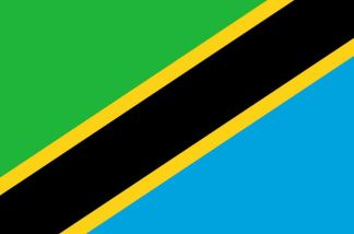 Tanzania flag. Image from Wikipedia.org.