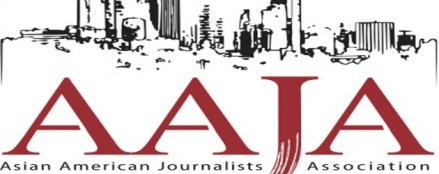 Logo for AAJA-LA. Image from their website.