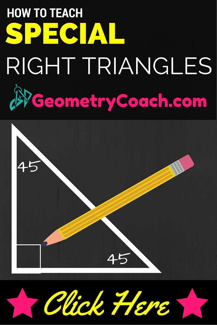 Special Right Triangles Worksheets
