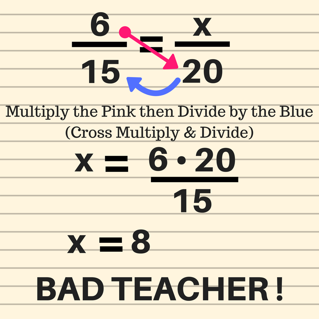 Ratios and Proportions - Bad Teacher! - GeometryCoach.com