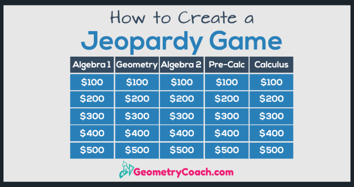 how to create a jeopardy game