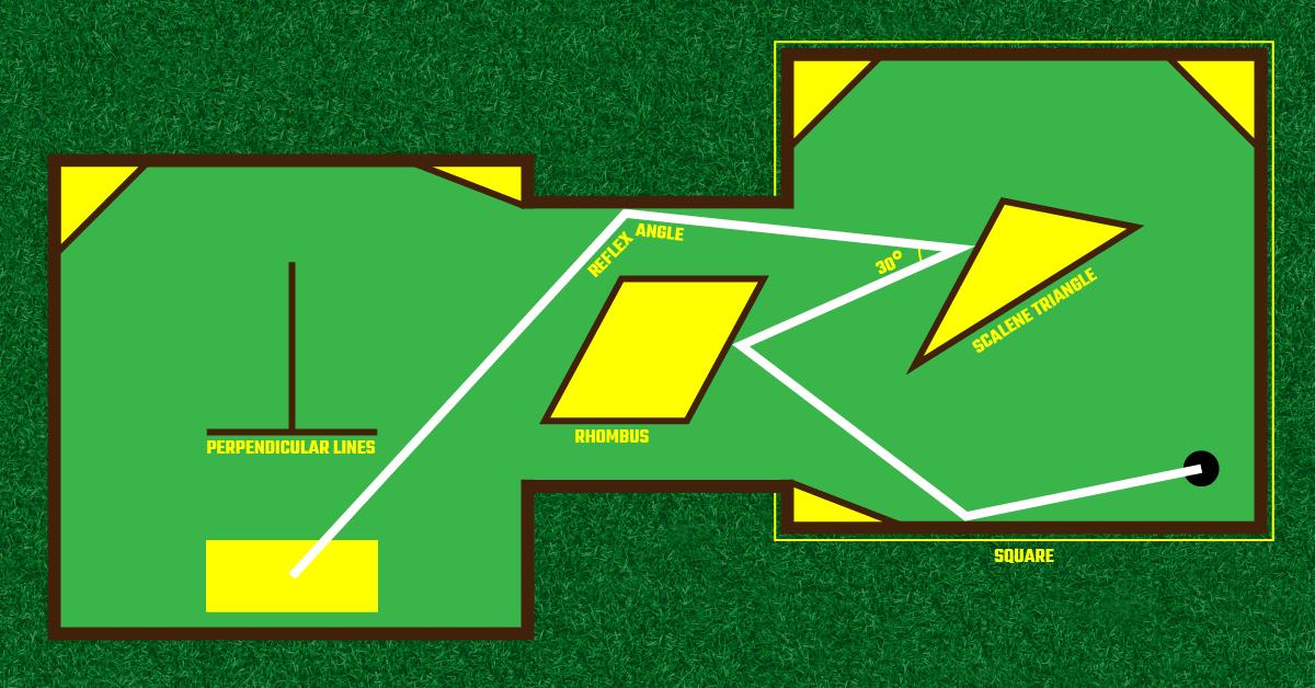 Measuring Angles Putt-Putt Course Design Project ⋆ GeometryCoach.com