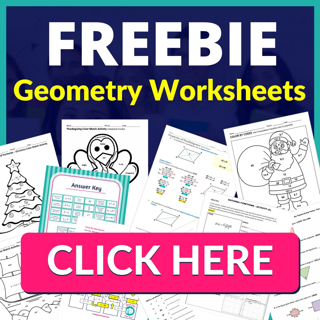 FREEBIE Geometry Worksheets