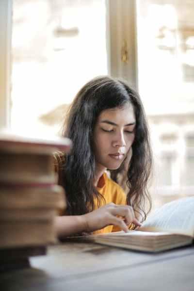 A student writing homework