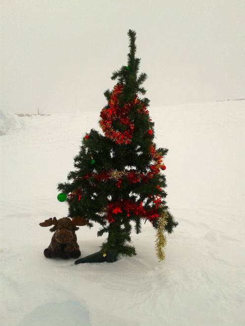 Santa even makes it to the South Pole for Christmas