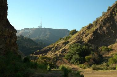Hollywood Sign from Bat Cave