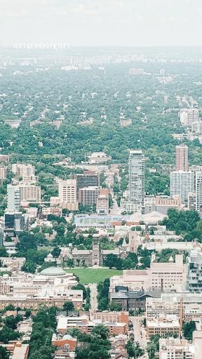 Vue depuis la CN Tower