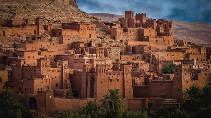 Ksar Aït-ben-Haddou au Maroc, dans la province de Ouarzazate. Inscrit au patrimoine mondial de l'UNESCO