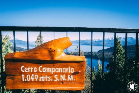 Cerro campanario Sign, Bariloche, Argentine