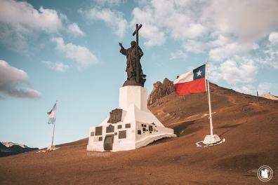 Le Cristo Redentor à la frontière Chili-Argentine