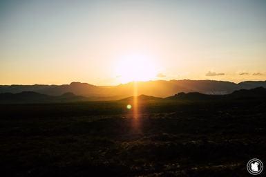 Coucher de soleil à San Rafael en Argentine