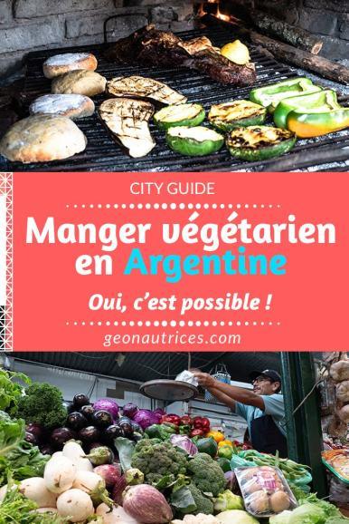 """Qui a dit que manger végétarien en Argentine relevait de l'impossible ?! - """"il n'y a pas de légumes en Argentine"""" - """"tu vas galérer, ils ne mangent que de la viande là-bas"""" - """"tu as choisi le mauvais pays"""" Après 8 mois passé en Argentine en étant végétarienne, je casse le mythe de l'argentin qui ne mange que de la viande ! Retrouvez mon expérience et mes bonnes adresses où manger végétarien en Argentine dans cet article ! Je vous attends dans les commentaires pour lire vos expériences ! ;) #vegetarien #vege #nourriture #argentine #pvtargentine #voyage #travel"""