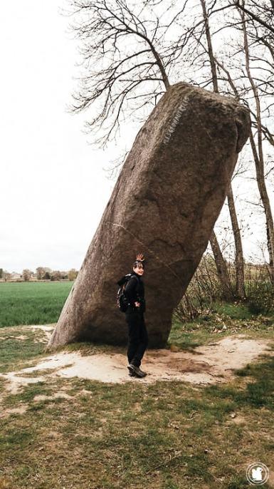 Menhir la Tremblais - Dinan, Bretagne