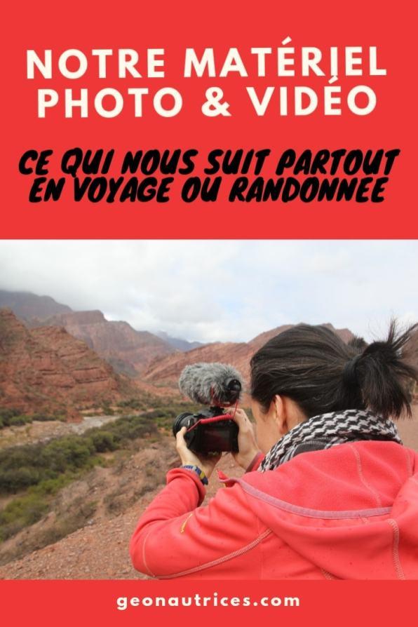 Nous vous listons le matériel photo et vidéo que nous emportons souvent avec nous en voyage ou en randonnée. Si vous souhaitez débuter en photo et/ou vidéo, cet article pourra vous aider à choisir votre matériel ! ;) #photo #vidéo #équipement #travelblog