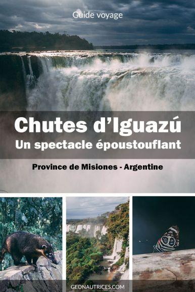 Les chutes d'Iguazu, à la frontière entre l'Argentine et le Brésil sont connues pour le spectacle époustouflant qu'elles offres ! Un immanquable à voir lors d'un séjour en Argentine et au Brésil ! Comment les visiter ? Nous vous donnons tous les détails dans cet article ! #Iguazu #Waterfalls #Cascades #nature #Argentine #Bresil #voyage #UNESCO
