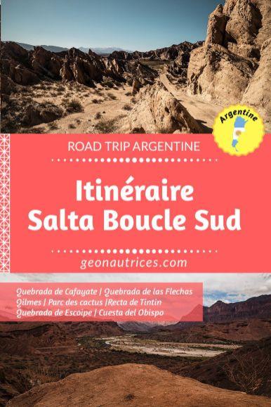 Nous partageons notre itinéraire de la boucle sud de Salta, dans le nord ouest argentin. Nos conseils, ce qu'il faut voir, où dormir. Découvrir la Quebrada de Cafayate, de las Flechas, les ruines de Quilmes, etc. #salta #argentine #noa #roadtrip #voyage