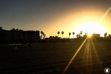 Venice beach au lever du soleil