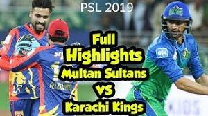 PSL 2019 Full Highlights - Match 24 - Karachi Kings vs Multan Sultans – Live Cricket Streamings-PSL 2019-PSL4-PSL 19-PSL all teams Players