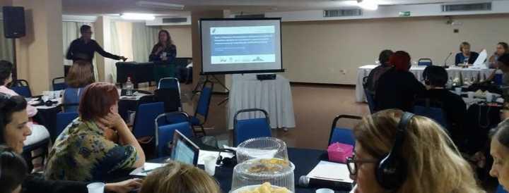 Profa. Dra. Luciana Cordeiro apresenta trabalho sobre o Geopark Corumbataí no evento