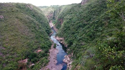 Vista aérea del cañón