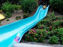 Kai sliding at Kata's Kookaburra Cove