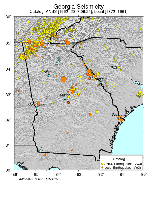 Georgia Seismology and Earthquake Activity