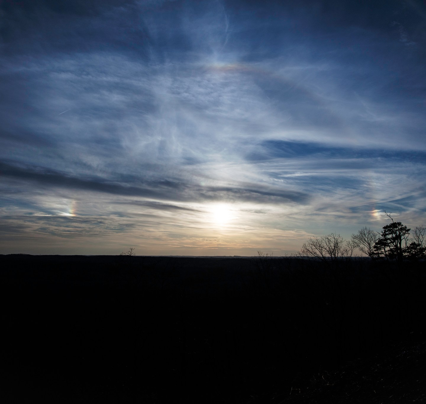 Sun Haloes at Morrow Mountain State Park in Central North Carolina