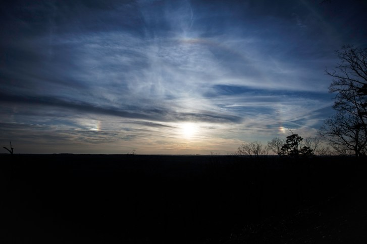 sun halo with sundogs