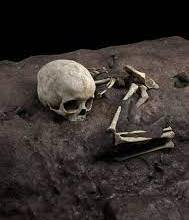 A child laid to rest with pillow 78,000 years ago