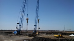 Hayward Baker is performing stone column work at two main sites for the Kansas Department of Transportation's K-10 South Lawrence Trafficway project in Lawrence, Kan., with over 6,800 thirty-six-inch diameter stone columns to depths up to 62 feet.