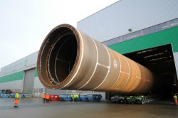 First of the 67 7.8m diameter, 82m long monopiles for Veja Mate offshore wind farm roll out